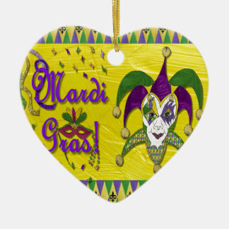Jester Mask Mardi Gras Harlequin Ceramic Ornament