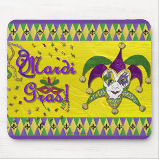 Jester Mask Mardi Gras Harlequin Mouse Pad