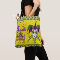 Jester Mask Mardi Gras Harlequin Party Art Print Tote Bag