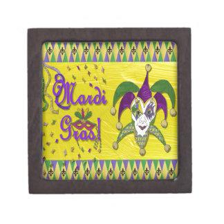 Jester Mask Mardi Gras Harlequin Premium Gift Box