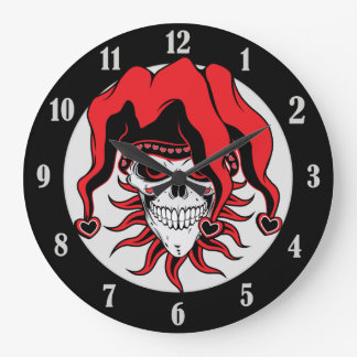 Jester of Love Large Clock