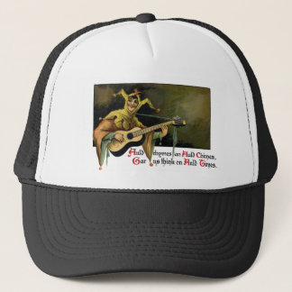 Jester Playing Guitar Vintage New Year's Day Trucker Hat