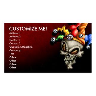 Jester Skull Business Card