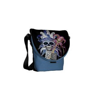 Jester Skull Messenger Bag