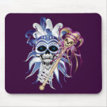 Jester Skull Mouse Pad