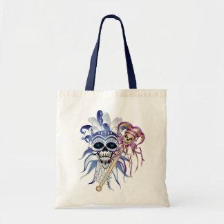 Jester Skull Tote Bag