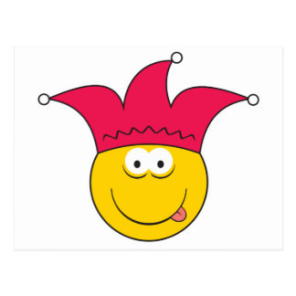 Jester Smiley Face Post Cards