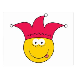 Jester Smiley Face Postcard
