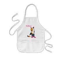 Jester the cat apron