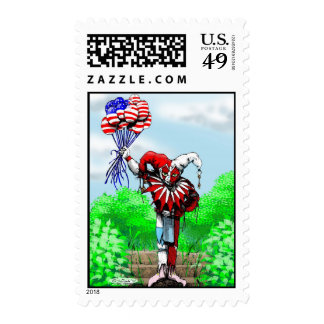 jester w-balloons stamp