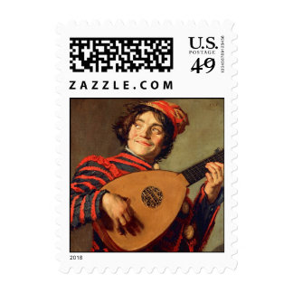 Jester with a Lute Postage