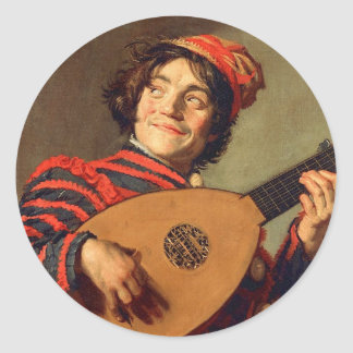 Jester with a Lute Sticker