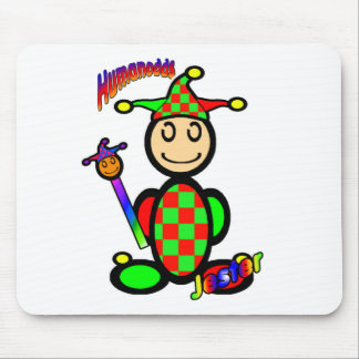 Jester (with logos) mousemat