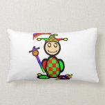 Jester (with logos) throw pillows