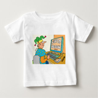 "Jester's Computer Screen Reads As ""Farce Book"" Baby T-Shirt"
