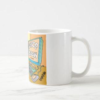 "Jester's Computer Screen Reads As ""Farce Book"" Coffee Mug"
