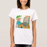 "Jester's Computer Screen Reads As ""Farce Book"" T-Shirt"
