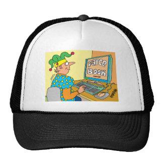 "Jester's Computer Screen Reads As ""Farce Book"" Trucker Hat"