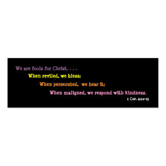 Jesters For Christ Bookmark (2 sided) Double-Sided Mini Business Cards (Pack Of 20)
