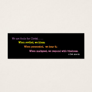 Jesters For Christ Bookmark (2 sided) Mini Business Card