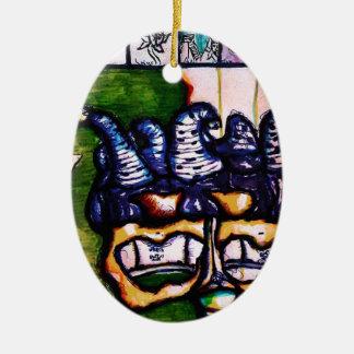 Jester's Hand an Interpretive Dance Ceramic Ornament
