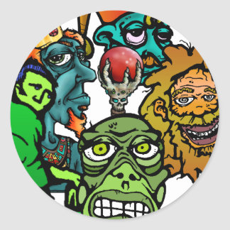 jestertif, Just the King, skatenose-grn, homele... Round Stickers