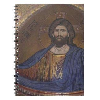 Jesucristo ARTE de la iglesia del vintage Libreta Espiral