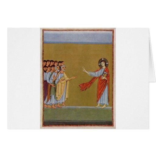 Jesucristo circa 1010 tarjeta de felicitación