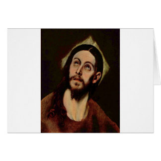 Jesucristo circa 1580-1585 tarjeton