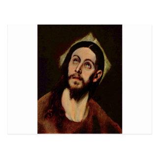 Jesucristo circa 1580-1585 postal