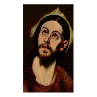 Jesucristo circa 1580-1585 tarjetas de visita