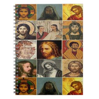 Jesucristo, collage del vintage, antigüedad, cuadernos
