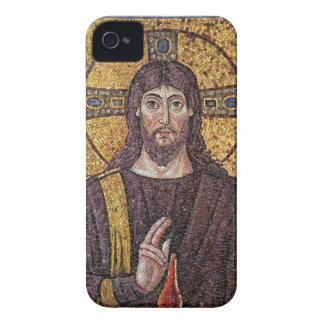 Jesucristo con el mosaico de la llama del Espíritu Case-Mate iPhone 4 Cárcasas