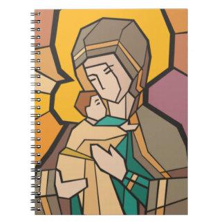 JESUCRISTO CON LA MADRE MARIA LIBRO DE APUNTES