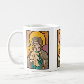 JESUCRISTO CON LA MADRE MARIA TAZA DE CAFÉ