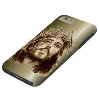 Jesucristo con una corona de espinas funda de iPhone 6 plus tough