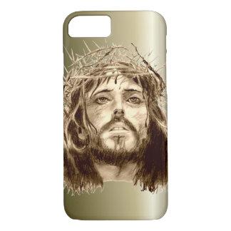 Jesucristo con una corona de espinas funda iPhone 7