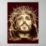 Jesucristo con una corona de espinas posters