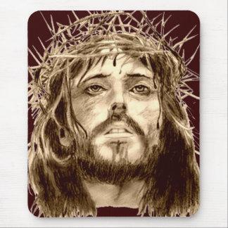 Jesucristo con una corona de espinas tapete de raton