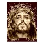 Jesucristo con una corona de espinas tarjetas postales