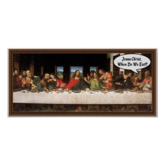 ¿Jesucristo cuándo comemos? - Última cena Impresiones