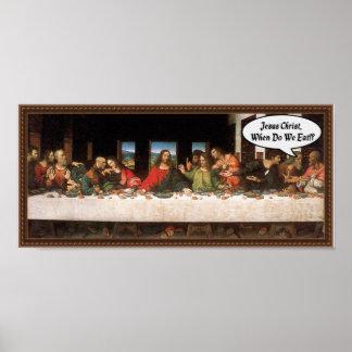 ¿Jesucristo cuándo comemos? - Última cena Póster