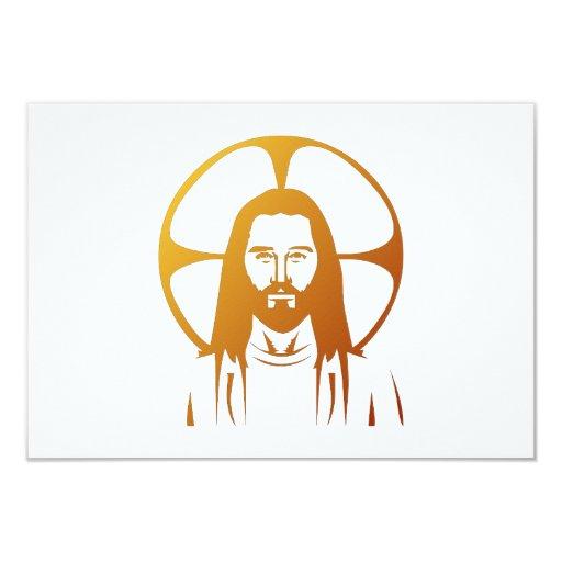 """Jesucristo: Dios le bendice Invitación 3.5"""" X 5"""""""