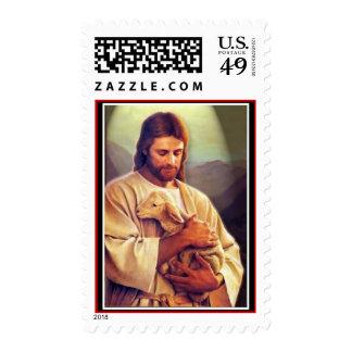 Jesucristo el buen pastor sellos postales