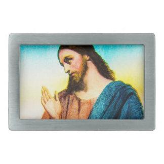 Jesucristo el cordero del vintage de dios hebillas cinturon rectangulares