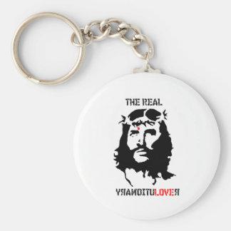 Jesucristo - el revolucionario real llavero redondo tipo pin