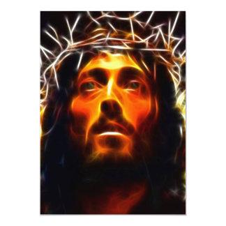 """Jesucristo el salvador invitación 5"""" x 7"""""""