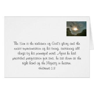 Jesucristo en su gloria felicitacion