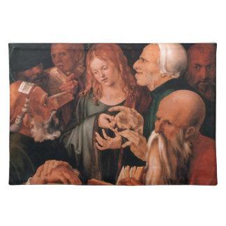 Jesucristo entre los doctores manteles individuales