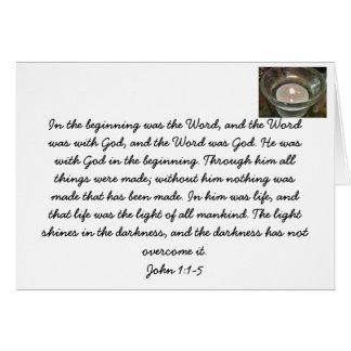 Jesucristo. La palabra de dios. Tarjeta del verso